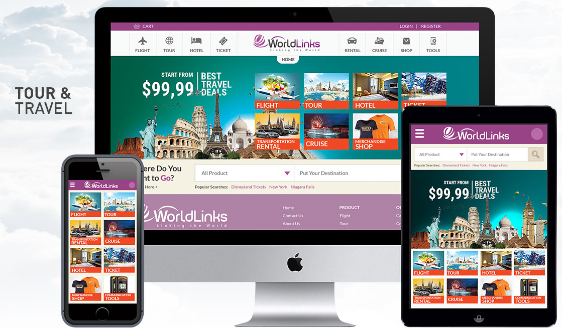 Worldlinks Tour & Travel eCommerce