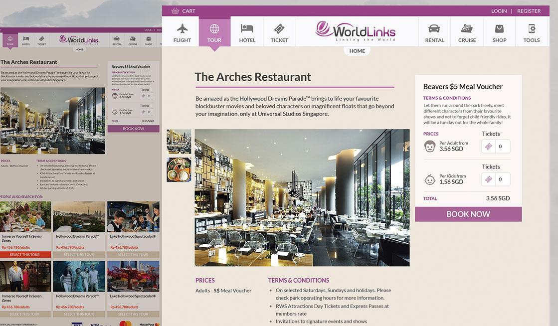 Worldlinks Tour & Travel eCommerce